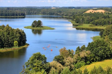 Poland landscape - Mazury lake region