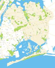 Queens - New York City Map - vector illustration