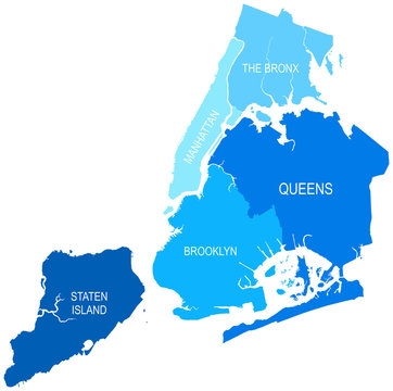 New York City Map - vector illustration