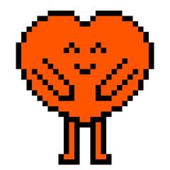 illustration design pixel art heart