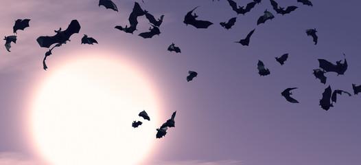 Bats in the night / 3d rendering