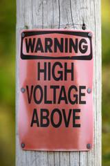 Warning High Voltage