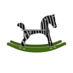 3d illustration of child horse toy. white background isolated. icon for game web.