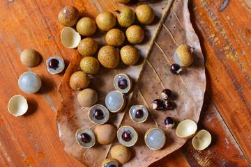 Longan fruit on plate