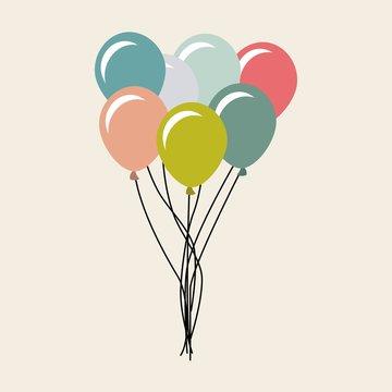 balloons air party celebration design
