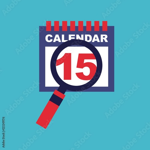 Calendar Reminder Design : Quot calendar reminder flat isolated icon vector illustration