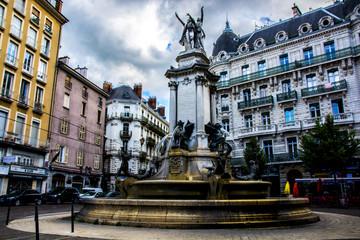 Brunnen in der Innenstadt von Grenoble
