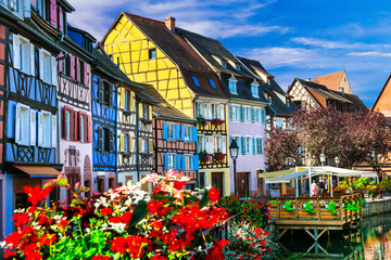 Fototapete - Most beautiful villages (town) of France  - Colmar in Alsace