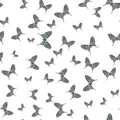 Seamless pattern butterflies. Vector illustration