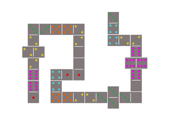 grey domino pattern background