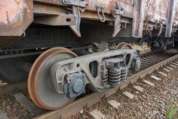Iron train wheels