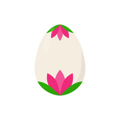 isolated easter egg lily pink vector illustration