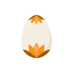 isolated easter egg orange vector illustration