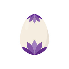 isolated easter egg violet vector illustration