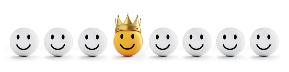 Goldener Smiley mit Krone 3