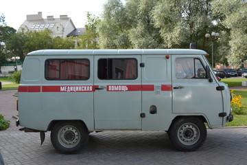 ambulance closeup