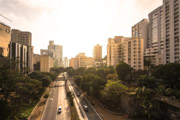 Wall Mural - Sao Paulo City Downtown by Sunrise