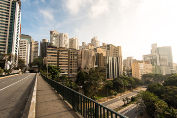 Sao Paulo City Downtown by Sunrise
