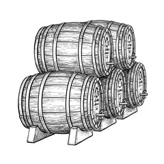 Wine or beer barrels