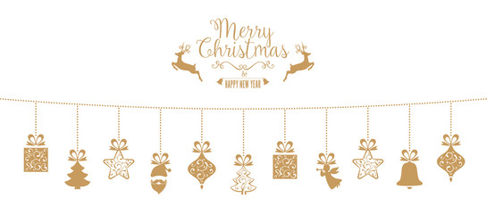 Golden Hanging Decoration with lovely Christmas Elements