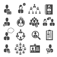 People management and business structure icons