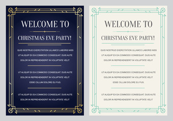 Gatsby Style Invitation in Art Deco or Nouveau Epoch 1920's Gang
