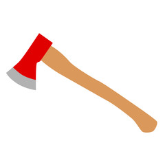 fireaxe red axe wooden vector illustration