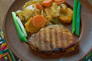 Hungarian dish of pork