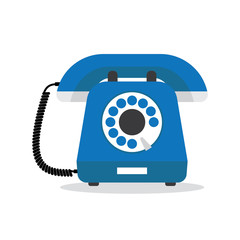 Retro styled blue telephone