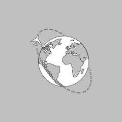 Air travel computer symbol