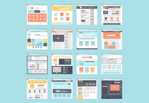Web Illustrations Set