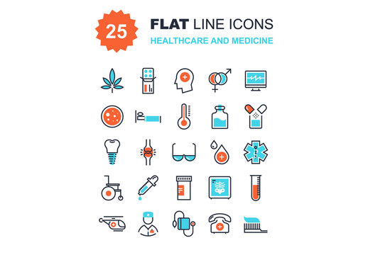 Healthcare and Medicine Icons Set 02