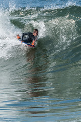 Recess Fitting Water Motor sports Bodyboarder in action