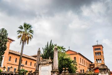 L'Athénée Pontifical Saint-Anselme de la place des chevaliers de Malte à Rome