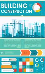 City Skyline Construction Illustration