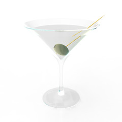 Martini Glass 3D render