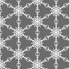 Snowflake vector pattern on gray