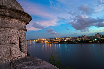 """Havana skyline view at sunset from """"El Morro"""""""