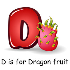 Fruits alphabet: D is for Dragon Fruits