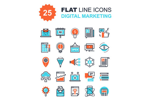 Digital Marketing Icons Set 02