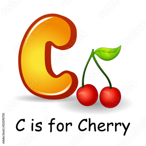 """Fruits Alphabet: C Is For Cherry Fruits "" Stock Image And"