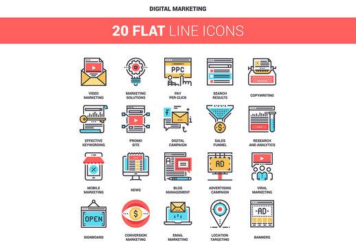 Digital Marketing Icons Set 04