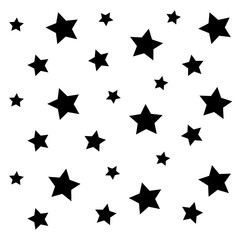 black little star pattern background