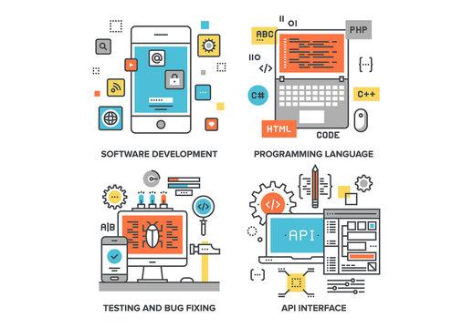 Program Coding Illustrations Set