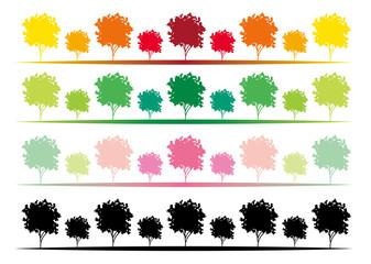 四季の樹木・飾りライン