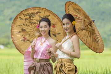 Beautiful girl in Laos costume.