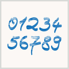 handwritten numbers with structure
