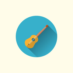 guitar icon. flat style