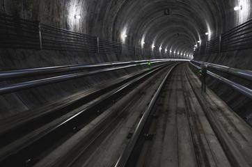 Empty Subway Tunnel. 3D illustration