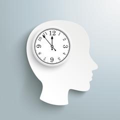 Human Head Clock Brain
